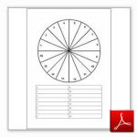 Dowsing chart - numbered circle with list below, empty