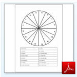 Flow Remedies dowsing charts, numbered circle
